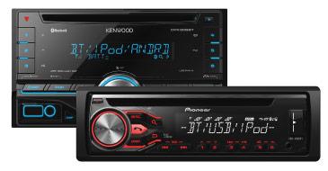 Autoradios Pioneer und Kenwood