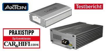 AXTON DSP Amps – Test Car & Hifi 02/2016